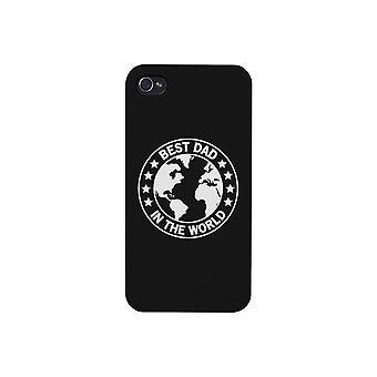 World Best Dad Black iPhone 4 Case