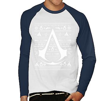 Christmas Strik Assassins Creed mænds Baseball langærmet T-Shirt