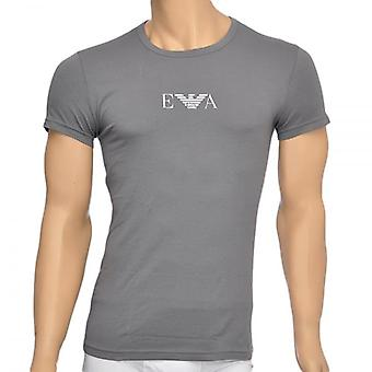 Emporio Armani Fashion Stretch Cotton Crew Neck T-Shirt, Rock Grey, X Large