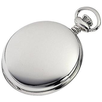Woodford Sterling Silver Polished Full Hunter Swiss Pocket Watch - Silver