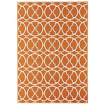Outdoor carpet for Terrace / balcony vitaminic interlaced Orange 133 / 190 cm carpet indoor / outdoor - for indoors and outdoors