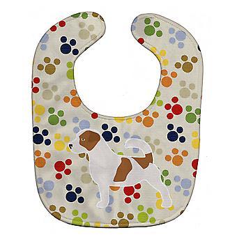 Каролинских сокровища BB6312BIB Джек Рассел терьер Pawprints ребенок нагрудник
