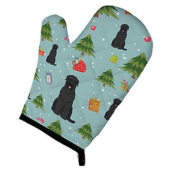 Carolines Treasures  BB4686OVMT Christmas Black Russian Terrier Oven Mitt
