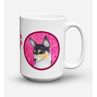 Chihuahua lave-vaisselle sûre pour micro-ondes céramique café tasse 15 oz SS4794