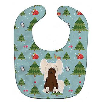 Carolines Treasures  BB4773BIB Christmas Chinese Crested Cream Baby Bib