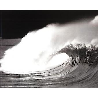 Wave schwarz & weißes Plakat Poster drucken