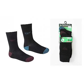 D555 Eden Cushioned Sole Socks 2 Pairs Pack