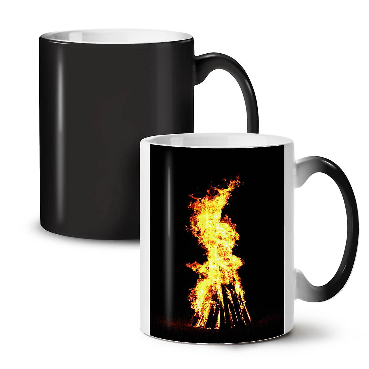De Thé Tasse Café Noire 11 Feu Bonfire Couleur Céramique Night OzWellcoda Changeant c1TlFKJ3