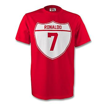 Tee de cresta de Cristiano Ronaldo Man Utd (rojo) - niños