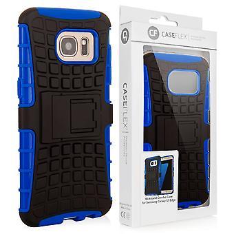 Caseflex Samsung Galaxy S7 kant støtteben Combo sag - blå