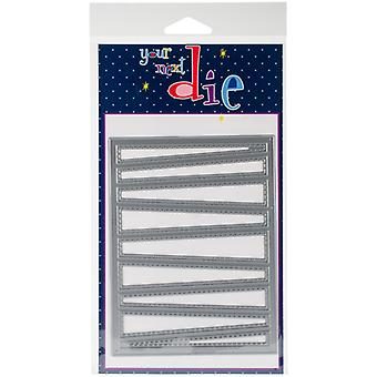Your Next Stamp Die-Funky Line Panel YNSD584