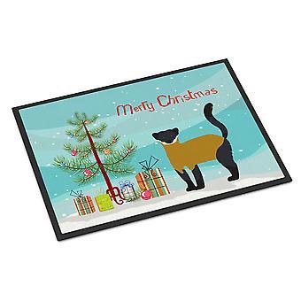 Yellow-Throated Marten Christmas Indoor or Outdoor Mat 24x36