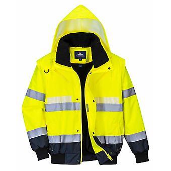 sUw - Glowtex Hi-Vis Sicherheit Workwear 3-in-1 Jacke