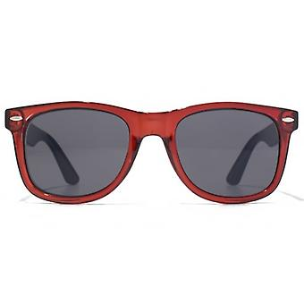 American Freshman Retro Plastic Sunglasses In Crystal Red