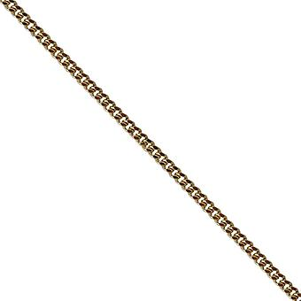 9ct Gold 1.8mm wide bright cut Curb Pendant Chain 24 inches
