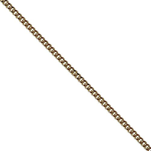 9ct Gold 1.8mm wide bright cut Curb Pendant Chain 16 inches Only Suitable for Children