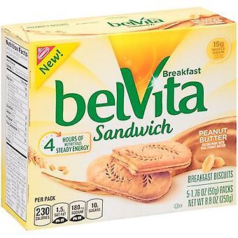 Belvita Breakfast Sandwich Peanut Butter 2 Box Pack