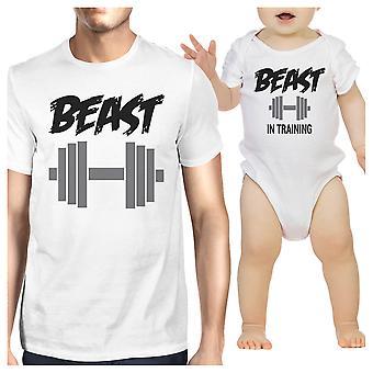 Beest In opleiding vader en Baby bijpassende Outfits geschenken voor man