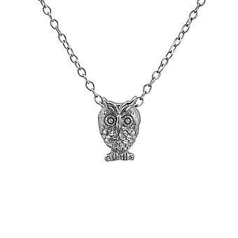 Owl - 925 Sterling Silver Plain Necklaces - W29902x