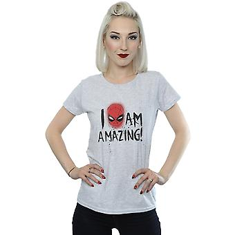 Marvel Women's Spider-Man I Am Amazing T-Shirt