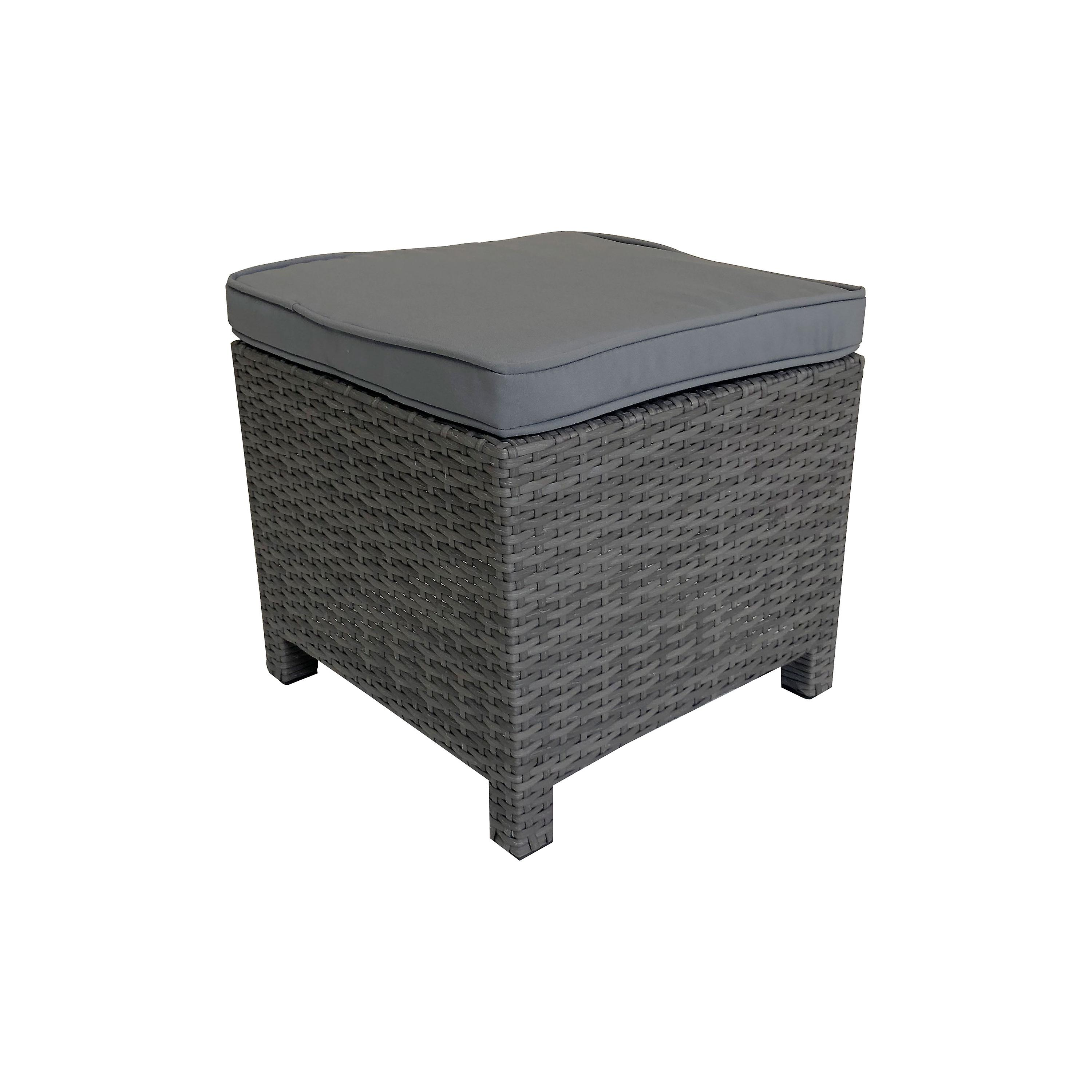 Grey SetIn Polywood Charles Bentley Cube Dining Rattanamp; H9IWE2D