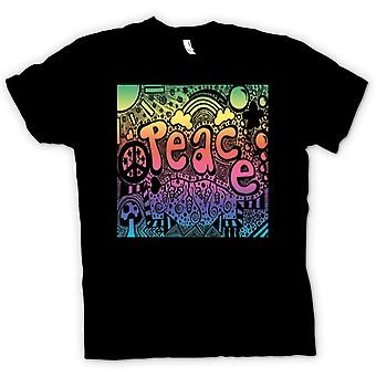 Kinder T-shirt-Peace Hippie-Psychedelic-Design