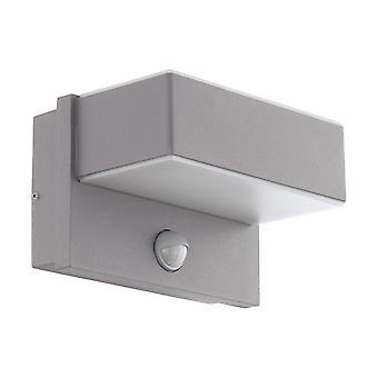Eglo Al LED Wall Light/2 M.Sensor Silber/Ws Azzinano