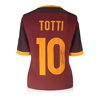 Francesco Totti Signed AS Roma 2015-16 Nike Home Shirt