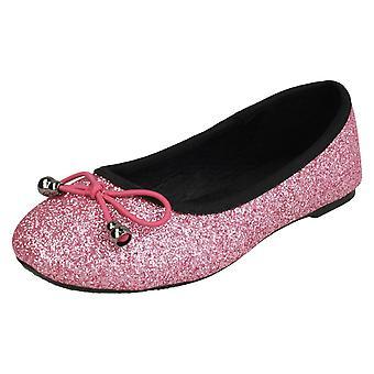 Spot de filles sur Glitter ballerines H2488 - Pink Glitter - UK taille 10 - UE taille 28 - taille US 11