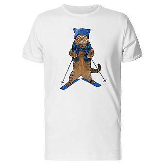 A Cat Skiing Tee Men's -Image by Shutterstock