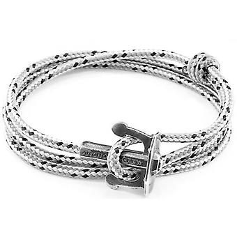 Anchor and Crew Union Silver and Rope Bracelet - Grey Dash