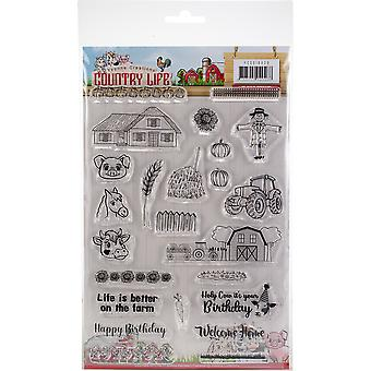 Find It Trading Yvonne Creations Clear Stamps-Country Life