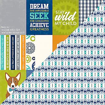 2 Cool For School Double-Sided Cardstock 12