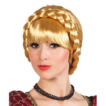 Boland Dama Blonde Medieval Wig with Plait Fancy Dress Accessory