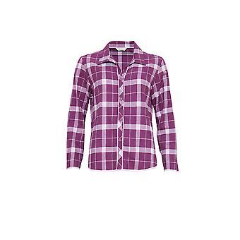 Cyberjammies 3831 Women's Fiona Magenta Purple Check Pajama Pyjama Top