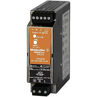 Rail mounted PSU (DIN) Weidmüller CP T SNT 70W 12V 6A 14 Vdc 6 A 70 W 1 x