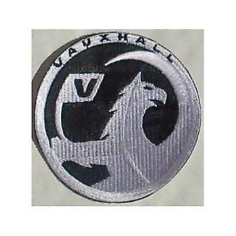 Vauxhall New Logo Iron-On/Sew-On Cloth Patch (Bk/Silv)