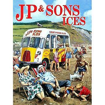JP & Sohn Ice Cream Van Metall unterzeichnen 300 X 400 Mm