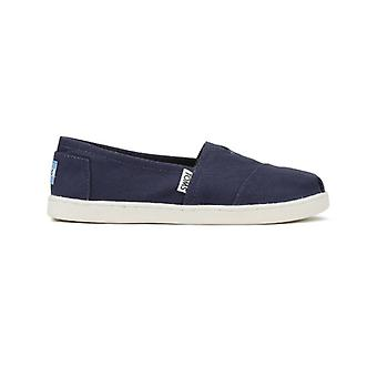 TOMS Youth Navy Canvas Classic Espadrilles