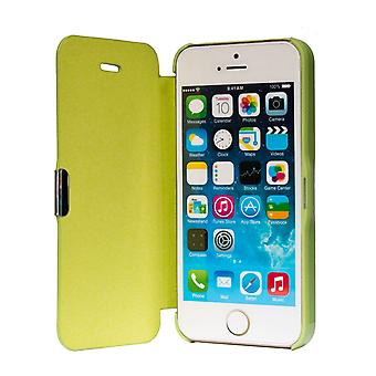 Flip cover sleeve case phone cover Bookstyle for Apple iPhone 5 / 5 s / SE Grün