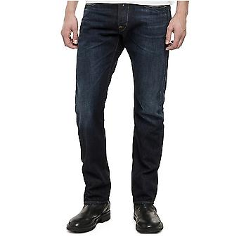 Replay Waitom vanliga SlimFit Jeans Medium WashDeep blå