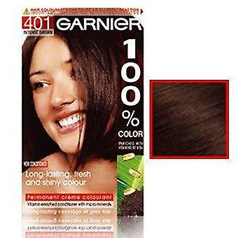 Garnier 100% Color 401 Intense Brown Pack of 3