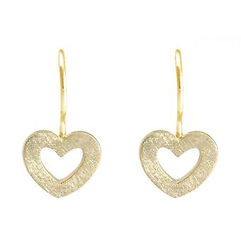 Ladies heart earrings 925 silver plated 20mm