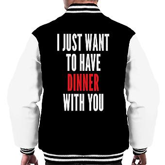 I Just Want To Have Dinner With You Killing Eve Men's Varsity Jacket