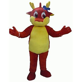 SPOTSOUND of red and yellow, giant dragon mascot