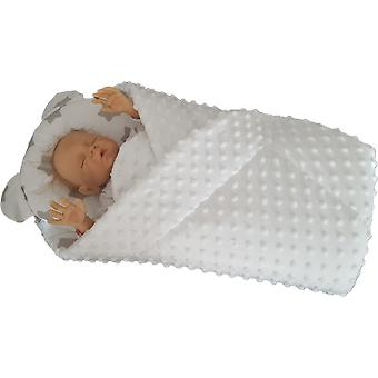 BlueberryShop MINKY with Pillow Very WARM and Cute Swaddle Wrap, Blanket, Sleeping Bag, baby shower GIFT PRESENT 0-3m