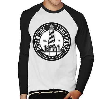 Ocean Side lys hus mænds Baseball langærmet T-Shirt