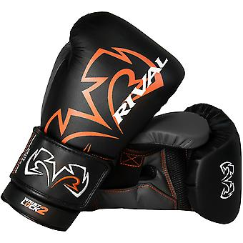 Rival Boxing Evolution Hook and Loop Sparring Gloves - Black