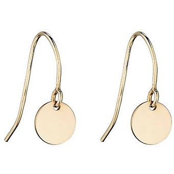 Beginnings Disc Drop Earrings - Gold