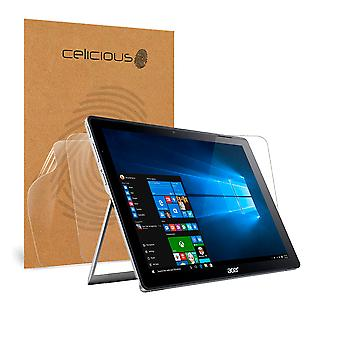Celicious Vivid Invisible Glossy HD Screen Protector Film Compatible with Acer Switch Alpha 12 SA5-271 [Pack of 2]